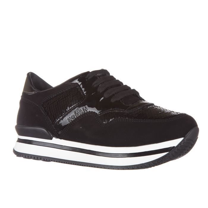 Chaussures baskets sneakers filles en daimvesj222 allacciato Hogan