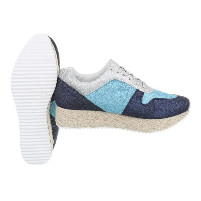 Chaussures femme chaussures sportSneakers bleu argent 39