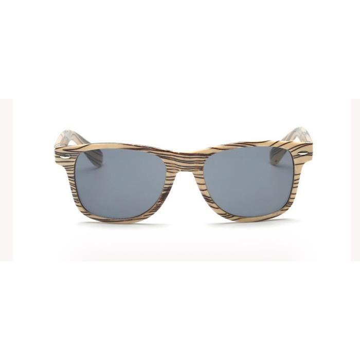 mode soleil Femmes 1234 LJL70607133GY Vintage like gris Lunettes Wood de de unisexe aviateur Lunettes rétro Hommes SPFwSrq8