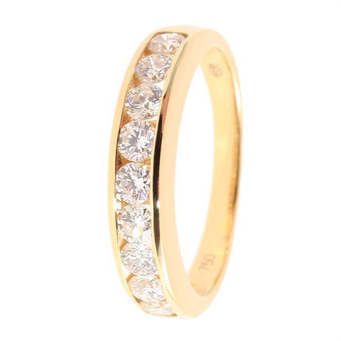 monte carlo star - demi-alliance en or jaune 18 carats et diamants