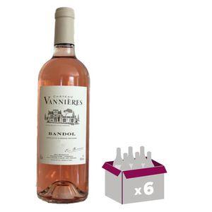 VIN ROSÉ CHÂTEAU VANNIERES Bandol - 2015 - Vin de Provence