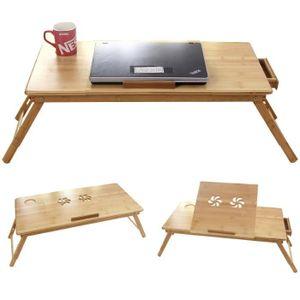 SUPPORT PC ET TABLETTE Table De Lit Pliable En Bambou Pour Pc Ordinateur
