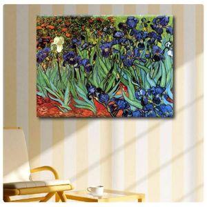 TABLEAU - TOILE Irises Vincent Van Gogh IMPRIMER Sur CANVAS (Synth