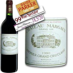 VIN ROUGE Château Margaux  1990 Margaux  - Vin Rouge de Bord