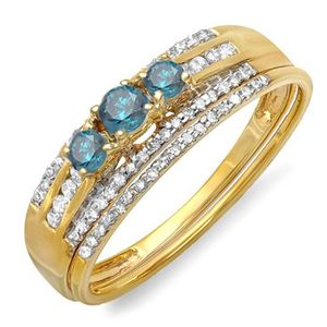 BAGUE - ANNEAU Bague Femme - Alliance Diamants 0.40 ct  18 ct 750