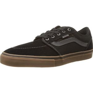 vans chukka low mens chaussures black gomme flanelle