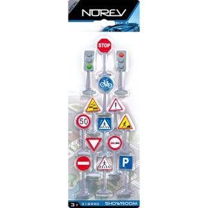 UNIVERS MINIATURE 12 Panneaux de Signalisation + 2 Feux Tricolores