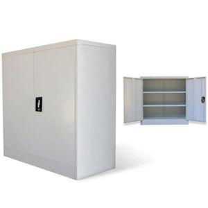 ARMOIRE DE BUREAU Armoire de bureau Classeur à tiroirs avec 2 portes