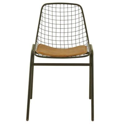 4x Chaise En Mtal Et Cuir Coop Noir