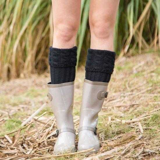 Femmes Chaude Pieds De Pieds À Tricoter Bas De Chaussettes Haute Couverture De Botte  @soc2159  Comme photo - Achat / Vente botte