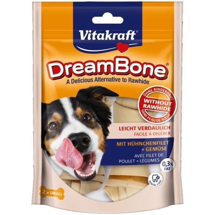VITAKRAFT Os à mâcher DreamBone os poulet S - Pour chien - 2 pièces