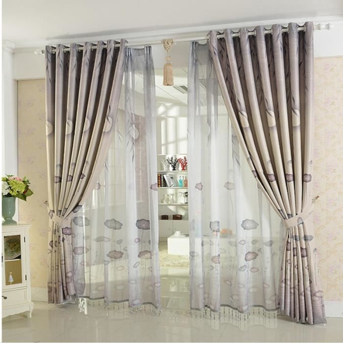 rideaux de la chambre cuisine rideaux pour le salon rideau voilage 140cmx270cm 1pc achat. Black Bedroom Furniture Sets. Home Design Ideas
