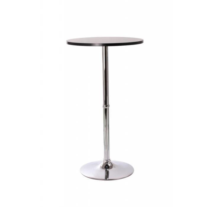 table haute bar bistrot bistrot mdf diamètre 60 cm noir 2009009