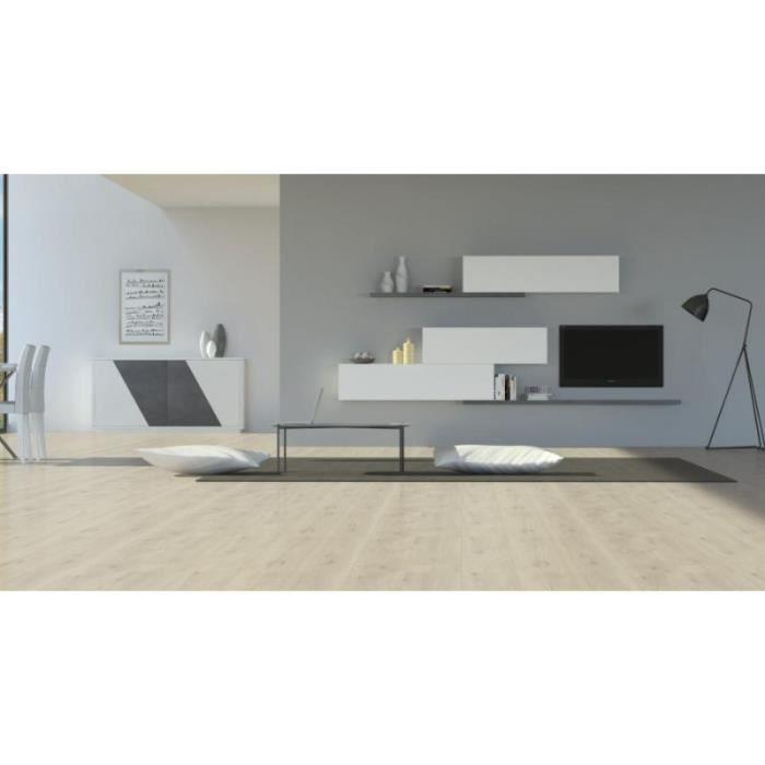 meuble tv bibliothèque avec buffet de finition générale blanc laqué