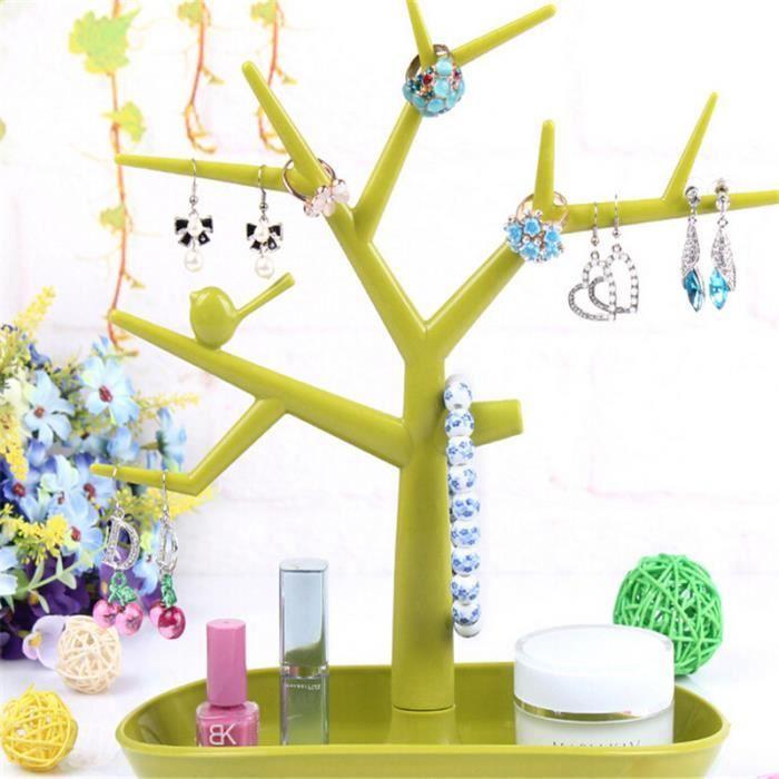 de84bf2c2339d presentoir a bijoux forme d arbre organisateur de la bague de collier vert