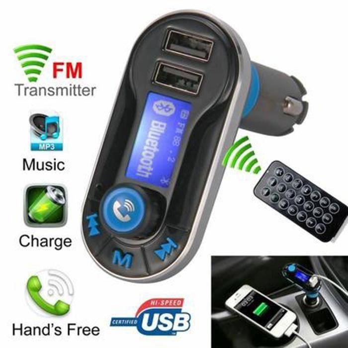 ETL Voiture Bluetooth Transmetteur FM MP3 Lecteur Parleur Sans Fil pour Téléphone Portable MA323