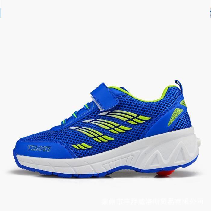 Husk'Sware® Enfant Heelys Chaussures à Roulettes avec Roues Chaussures pour Enfants Garçons Filles Sneakers