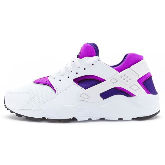 size 40 be0ec dc0f0 ... good baskets nike huarache gs chaussures in blanc violet hyper violet  turquoise 654280 105 uk 5.5