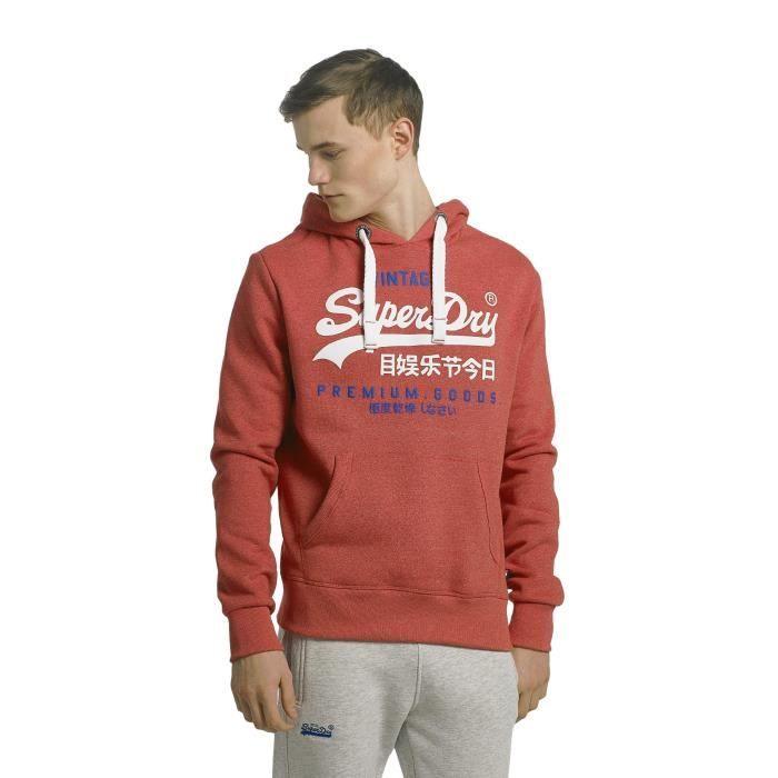 Duo Rouge Homme Superdry Sweat Goods Premium Capuche Hauts qpxYPwY0v