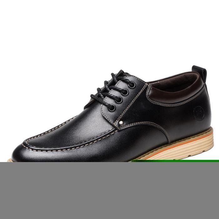 Classique d'automne Chaussures en cuir Noir M58sEqf