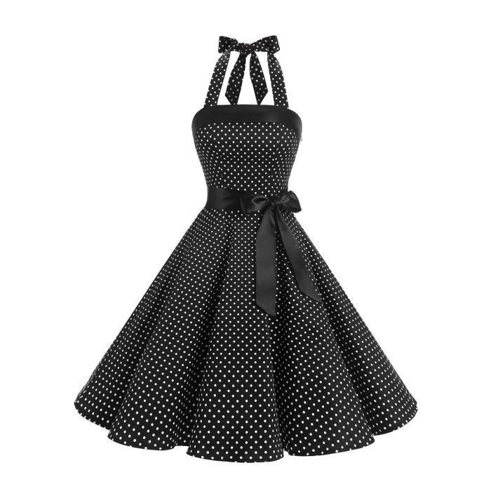 Les années 1950 sans bretelles rétro Vintage femmes Robes de bal à lacets 2ZNUO5 Taille-34