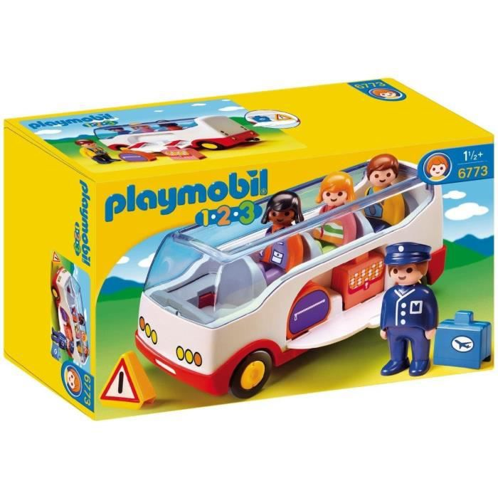 Playmobil 6773 1.2.3 Airport Shuttle Bus With Sorting Function 1WSQLU