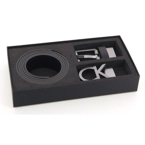 520ba7ac0f7e Calvin Klein - Coffret ceinture 2 boucles (k50k503266) black taille 110CM -  Achat   Vente ceinture et boucle 3663684334990 - Cdiscount