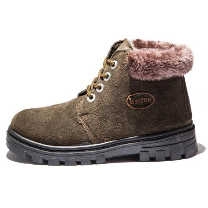 Martin Boots Enfants Hiver Garçons Fille Haute Qualité Chaussures GD-XZ101Vert34 1EGrM7uu5P