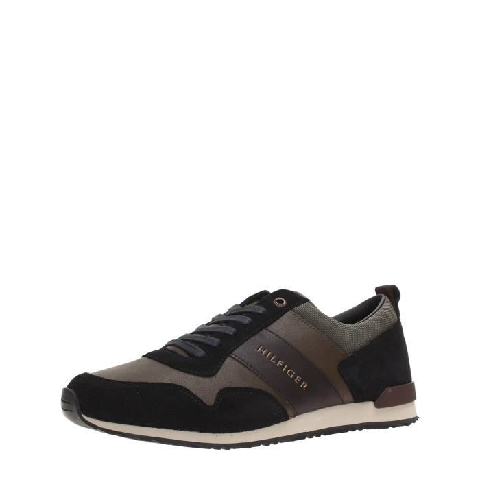 Tommy Hilfiger Sneakers Homme Verde/Nero