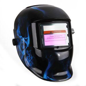 MASQUE DE SOUDURE Masque de Soudure Crâne Bleu Obscur-variable avec