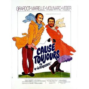 AFFICHE - POSTER Cause toujours… tu m'interesses ! - 1979 - Edouard