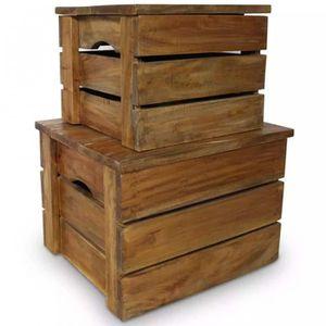 Caisse de rangement bois - Achat / Vente pas cher
