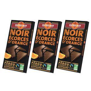 CONFISERIE DE CHOCOLAT ALTER ECO Chocolat Noir Ecorces d'Orange Bio 100g