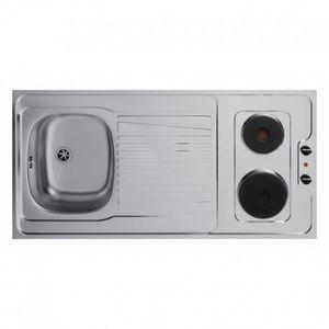 evier inox avec plaque electrique achat vente pas cher. Black Bedroom Furniture Sets. Home Design Ideas