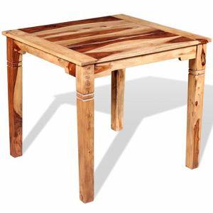 Homgeek Table à Manger en Bois de Sesham Style Rétro pour salle à ...