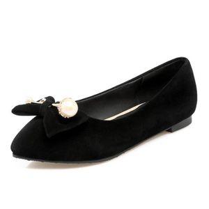BALLERINE Ballerine femmes plate en velours chaussure casuel