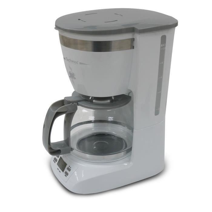 TECHWOOD TCA-991 Cafetière filtre programmable - Blanc