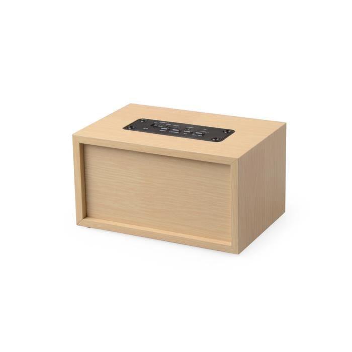 Haut-parleur Portable Bluetooth Sans Fil En Bois Rétro Double 3d Xfm70215623