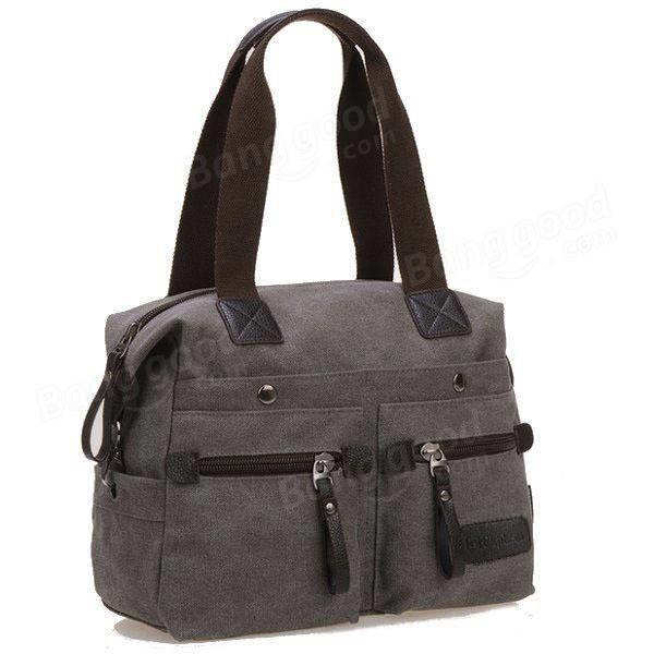 SBBKO645Ekphero femmes hommes toile de poche multi sacs à main occasionnels oreiller épaule sac bandoulière sacs Gris