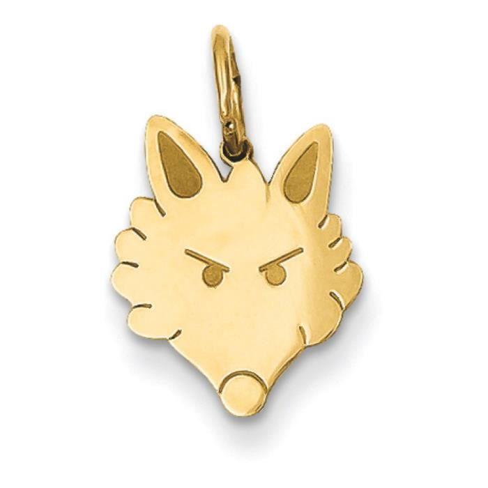 Fox Head Charm 14 carats-Dimensions :19,3 x 10,9 mm