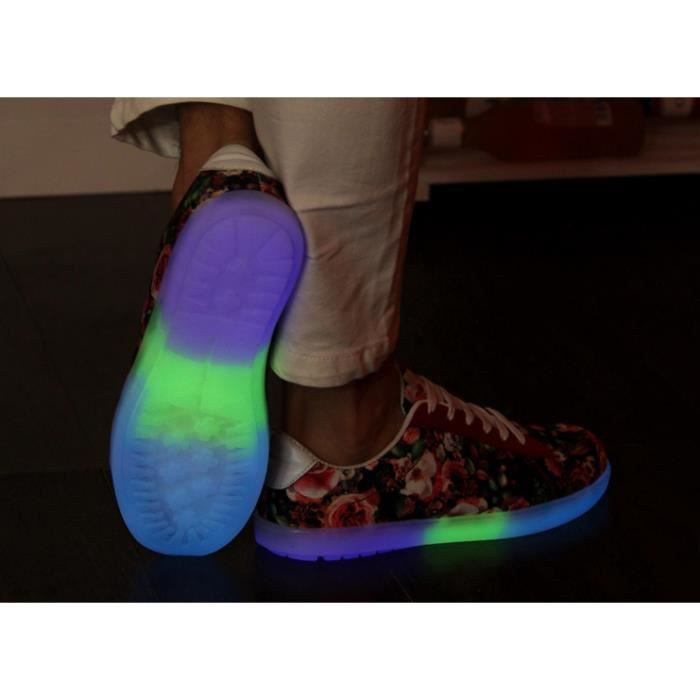 Toile Led chaussures réactive Glow Sneakers
