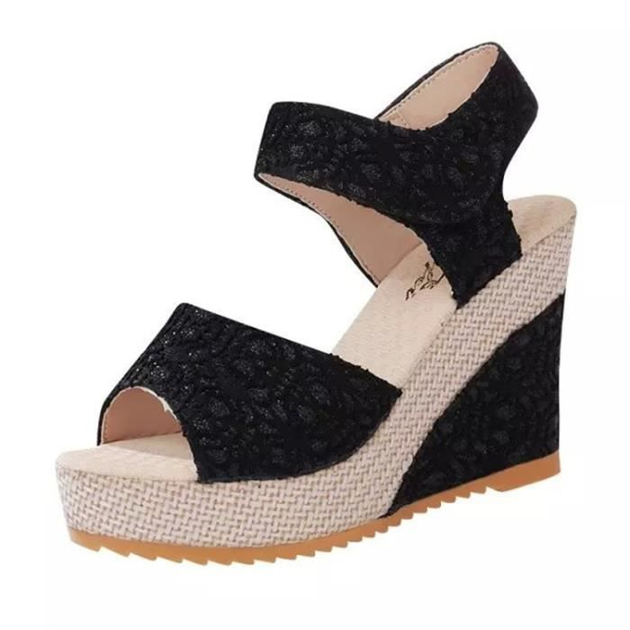 Sandales femme nouvelle mode talons sexy haut de la étanche Plateforme d'été orteil ouvert