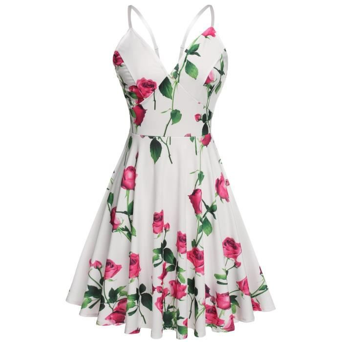 Craze rayonne durée maxi robe imprimée avec ceinture élastique - solide EONKE