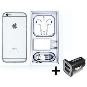 SMARTPHONE iPhone 6 64 Go - Argenté + 1 chargeur voiture doub