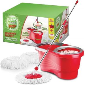CHARIOT DE MÉNAGE Easy Clean Mop – Kit Complet – Balai à frange régl