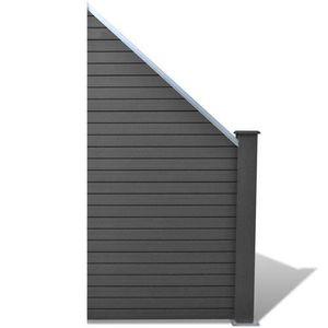 Panneaux cloture bois gris - Achat / Vente Panneaux cloture bois ...