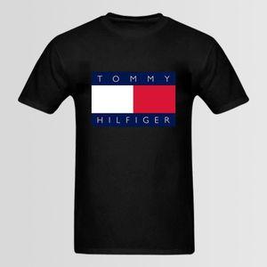 T-SHIRT TEE SHIRT HILFIGER 90 S Noir