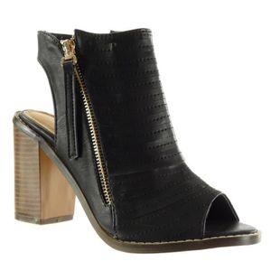 BOTTINE Angkorly - Chaussure Mode Sandale Bottine Peep-Toe