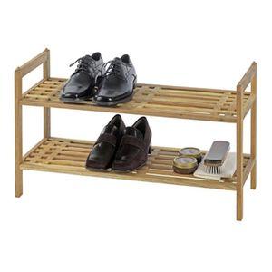 MEUBLE À CHAUSSURES meuble à chaussures en bois avec 2 tablettes - Dim