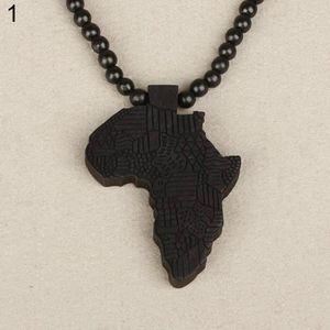 SAUTOIR ET COLLIER Mode Unisexe Afrique Carte Sculpture Pendentif En